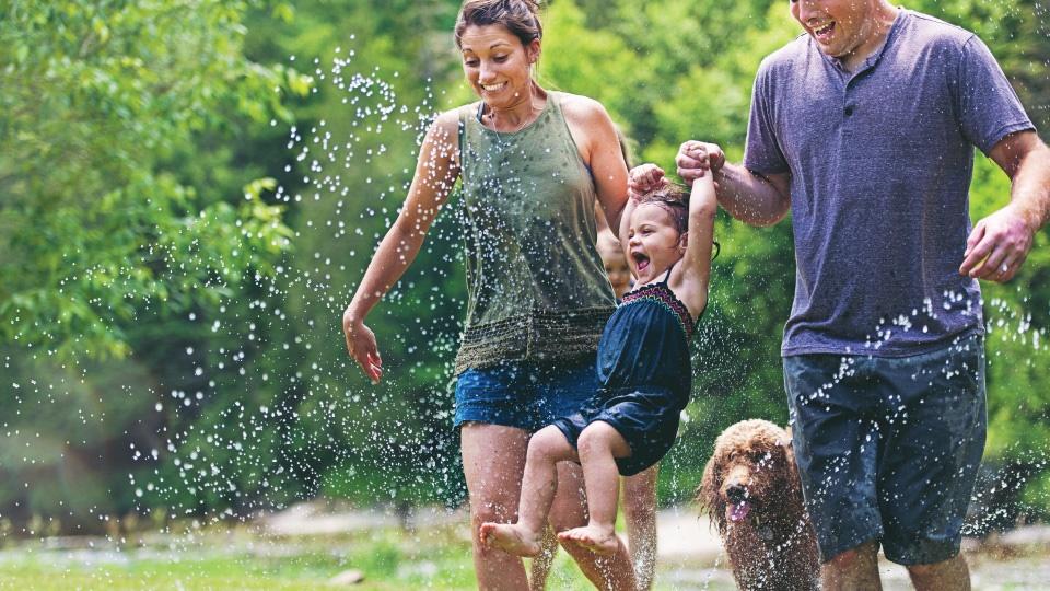 family has summer fun