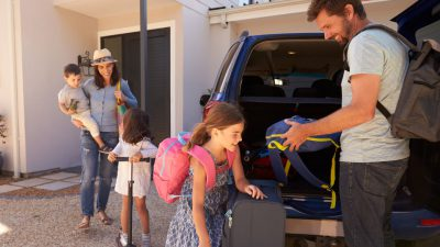 family enjoys summer with the right summer survival kit